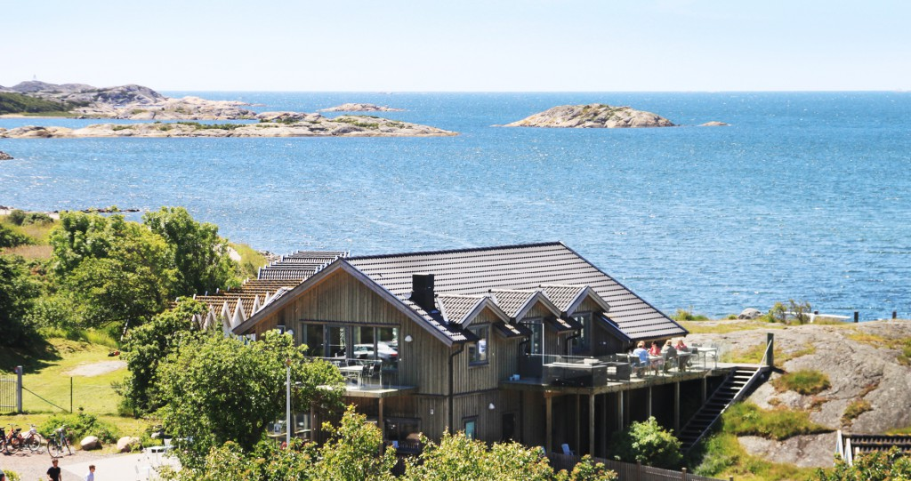 Bild över restaurant från berget