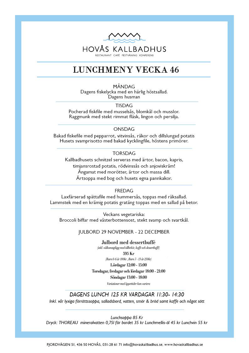 Lunchmeny v46
